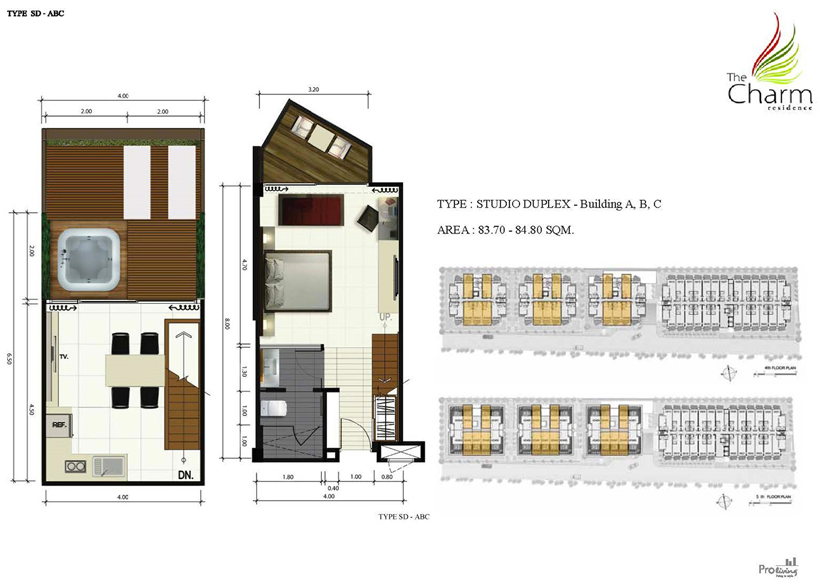 The Charm Residence Room Layout